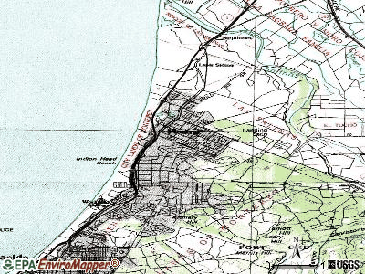 Marina topographic map