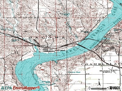 Oacoma topographic map