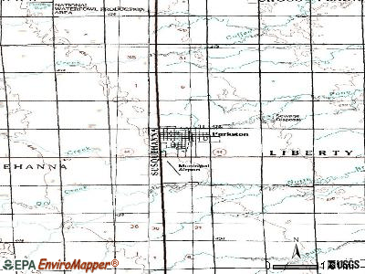 Parkston topographic map
