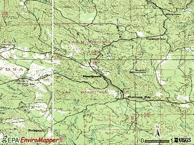 Mariposa topographic map