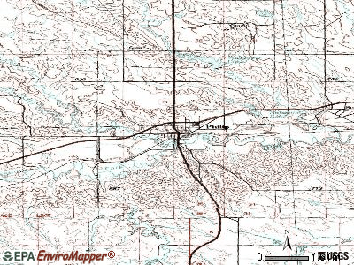Philip topographic map