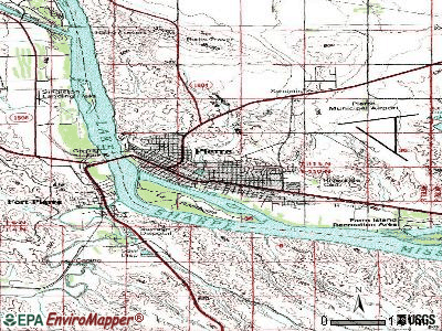 Pierre topographic map