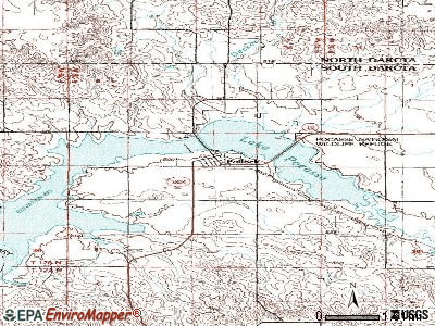 Pollock topographic map