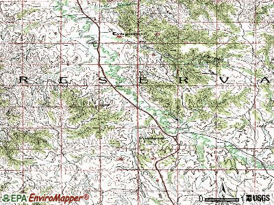 Porcupine topographic map