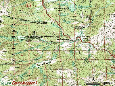 Markleeville topographic map
