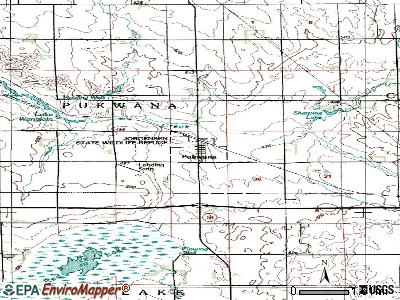 Pukwana topographic map