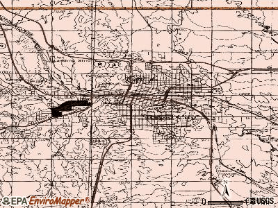 Rapid City topographic map