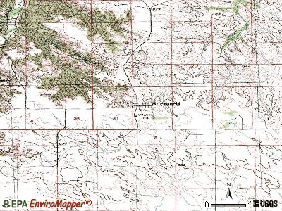 St. Francis topographic map