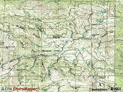 Meadow Valley topographic map