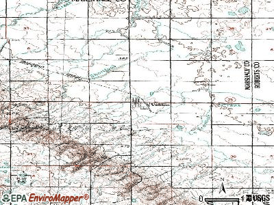 Veblen topographic map