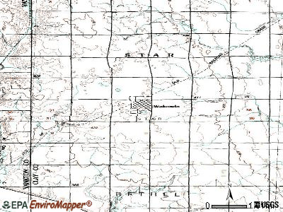 Wakonda topographic map