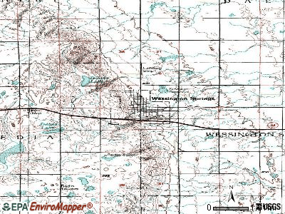 Wessington Springs topographic map