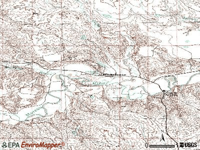 Whitehorse topographic map