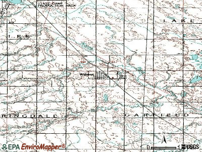 Wilmot topographic map
