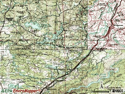 Mendocino topographic map
