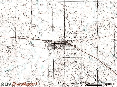 Winner topographic map