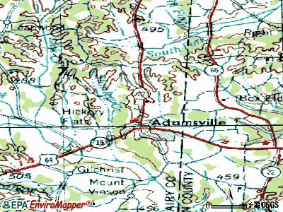 Adamsville topographic map