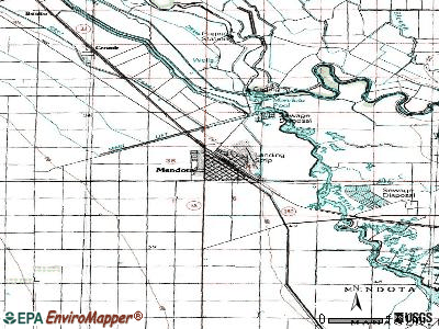 Mendota topographic map