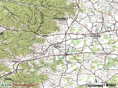 Baxter topographic map