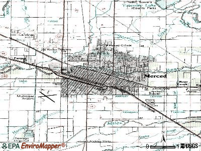 Merced topographic map