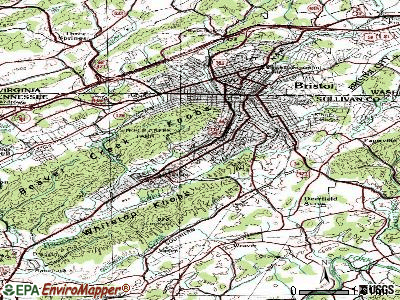 Bristol topographic map