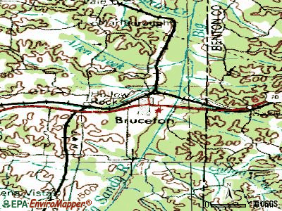 Bruceton topographic map