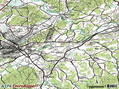 Central topographic map