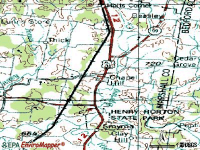 Chapel Hill topographic map