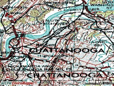 Chattanooga topographic map