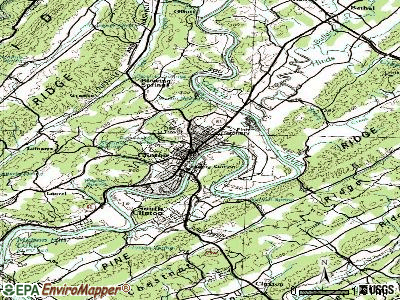 Clinton topographic map