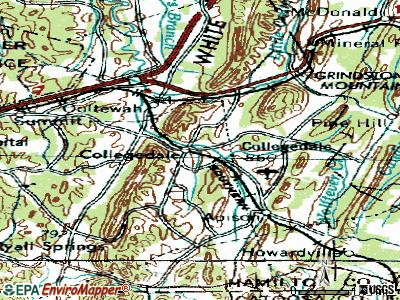 Collegedale topographic map