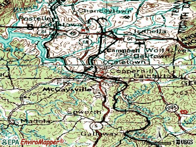 Copperhill topographic map