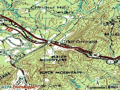 Crab Orchard topographic map