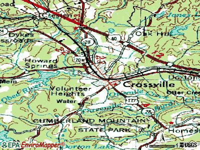 Crossville topographic map