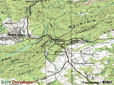 Cumberland Gap topographic map