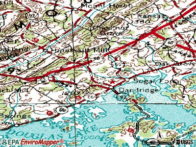 Dandridge topographic map