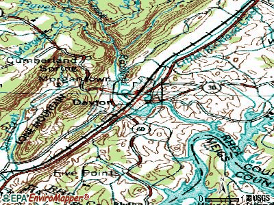 Decaturville topographic map