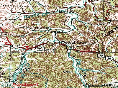 Dowelltown topographic map