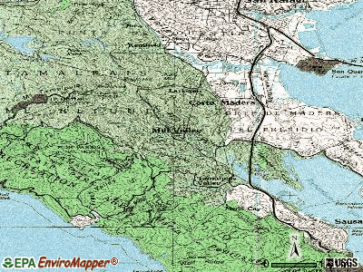Mill Valley topographic map