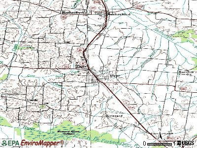 Dyer topographic map
