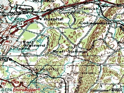 East Brainerd topographic map