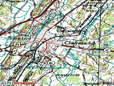 East Cleveland topographic map
