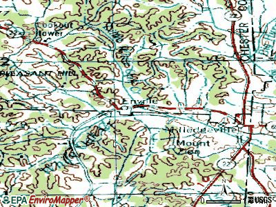 Enville topographic map