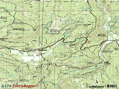 Mineral topographic map