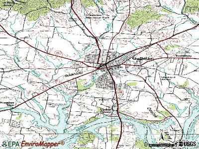 Gallatin topographic map