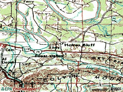Hokes Bluff topographic map