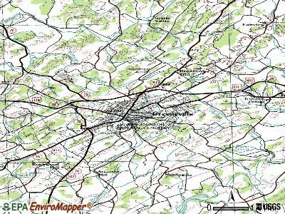 Greeneville topographic map