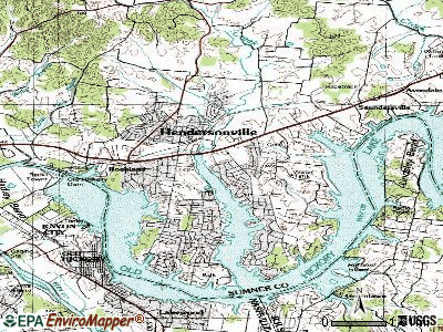 Hendersonville topographic map