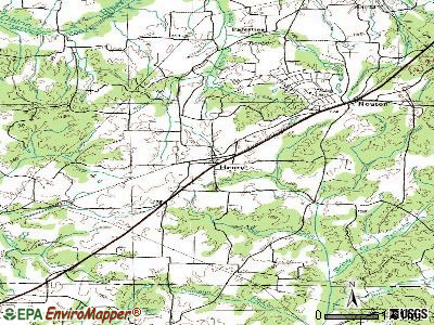 Henry topographic map