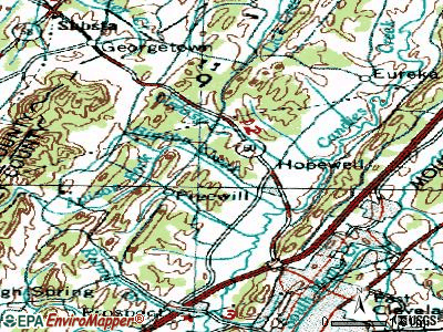 Hopewell topographic map